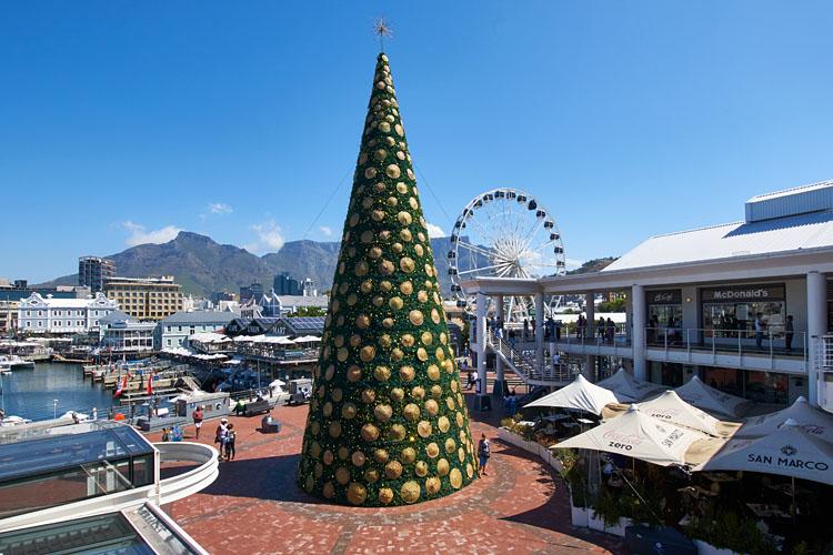 Kapstadt, Waterfront, Weihnachten, Festive Season, Weihnachtsbaum